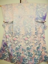 Vintage Japanese Silk Kimono Homongi, Pink K1132
