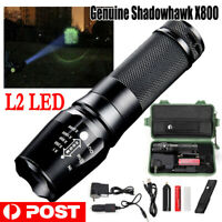 90000LM L2 LED Rechargeable Tactical Torch Flashlight CREE Zoomable Hunting Lamp