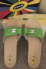 Dr. Scholl's Original Italy Vintage Sandals Size 11 Green Neon New With Box