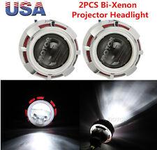 3.5 '' Motorcycle Headlight HID BI-XENON Projector Kit+Dual COB Angel Eye Halo