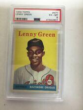 1958 Topps #471 Lenny Green PSA 6 Baltimore Orioles