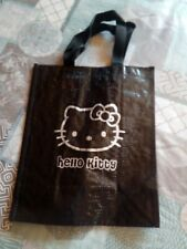 Sac cadeau en plastique noir Hello Kitty