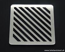 "4.5"" Cuadrado MacIzo Metal Acero Inoxidable Resistente Tapa Filtro barranco"