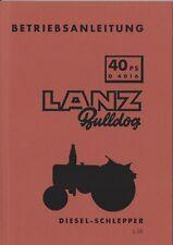 Betriebsanleitung Traktor Lanz Bulldog D4016  BA15450 mahas Ausg. 05/57