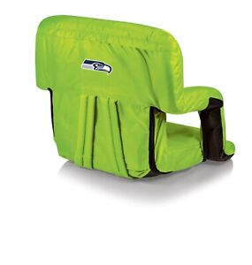 Seattle Seahawks Neon Green Ventura Seat Portable Recliner Chair - Brand New!
