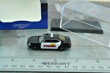 Ricko Dodge Charger Police Black - White 1:87 HO Scale