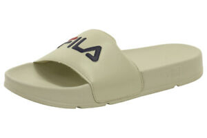 Fila Men's Drifter Cream/Navy/Red Slides Sandals Shoes