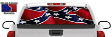 Riveted Flag Wavy BACK Window Graphic Perforated Film Decal Truck SUV