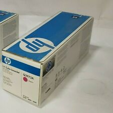 SET of 2 GENUINE HP Cyan and Magenta Q3971A & Q3973A for 2550 / 2820 / 2840