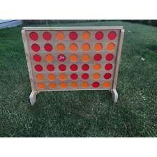 Mega Wooden Connect Four In A Row Game Set 69x79cm