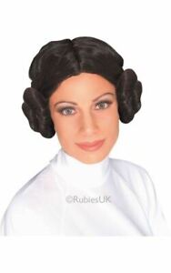 Adult STAR WARS Princess Leia Wig Ladies Fancy Dress Costume Party Accessory