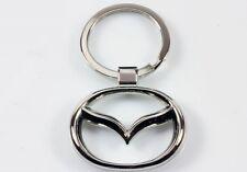 3D Chromed Mazda Car Logos Key Chain Car Keychain Ring Keyfob Metal Keyrings UK