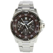 Seiko Criteria SNE021 P1 Silver Black Dial Solar Men's Analog Watch