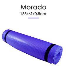 Esterilla Yoga Espeso Antideslizante Anchura 61cm Color Morado Deporte Fitness