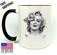 Marilyn Monroe, Birthday, Christmas Gift, Black Mug 11 oz, Coffee/Tea