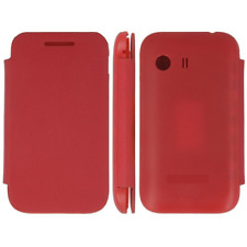 Case IN PVC & Eco Leather Red Flip Cover for Samsung Galaxy Y/S5360