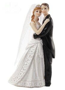 Brautpaar Hochzeitspaar Schleier Tanz Paar Tortenfigur Hochzeitstorte 10 cm Deko
