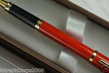 Cross Made in UK  Century II Cinnabar Red & 23KT Gold Selectip Rollerball pen
