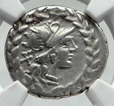 Roman Republic Rome Ancient Silver Coin MARS w NERIO LOVER CHARIOT NGC i80634