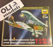1/144 Night Bomber/Reconnaissance Bi-Plane Polikarpov U-2/Po-2  - Zvezda 6150