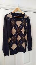 Barbour Grey Oxford Design Jumper Cotton Viscose Cashmere Blend Size XS *VGC*