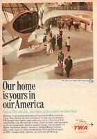 1966 Advertising' Vintage Twa Trans World Airlines Airport Flight Center York