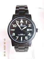 Smith & Wesson men's black tone and dial quartz watch WR 100M