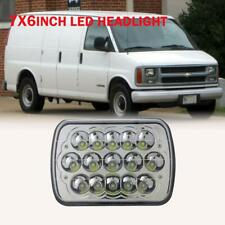 1PC DOT LED Headlight 7X6'' 5x7 225W For Chevy Express Cargo Van 1500 2500 3500