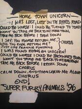 Unique Super Furry Animals Original Handwritten Lyrics Signed Oasis Nirvana COA
