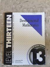 Developmental Mathematics Saad Level 13 Decimals Fractions Metric