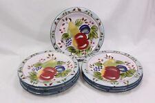 """Heritage Mint Black Forest Fruits Dinner Plates 10.5"""" Set of 8"""