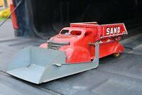 Marx Dump Truck w/Scoop Loader Sand & Gravel Tin Litho - Pressed Steel - USA