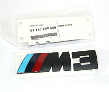 OEM ///M +3 Emblem Badge Sticker 3d for BMW M3 E36 E46 Series SU Black WH