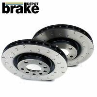 for Subaru Impreza WRX STI Front Brake Discs Brake Depot C Hook Slotted 326mm