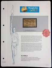 Olympics Athens 1896 Greece Gold stamps 99,8% Goldauflage* Only 4.999 MNH 7/13