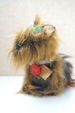 HERMANN Teddy ORIGINAL True Vintage Antikspielzeug Stofftiere Hund Yorki Terrier