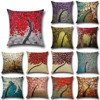 Vintage Linen Cotton Throw Pillow Case Cushion Cover Home Sofa Decor Soft New