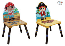 Teamson Fantasy Fields Pirate 2 Chair Set - Black and Red Hat TD-11593A2 NEW