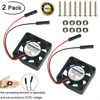 2pcs DC Cooling Fan Heatsink Cooler 3.3V 5V for Raspberry Pi 4/ Pi 3/3B Zero