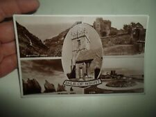 Vintage Real Photo Postcard ISLE OF WIGHT MULTI-VIEW Franked+Stamped 1937 §A511
