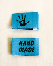 10 Handmade Webetiketten Labels Handmade with Love in türkis/grün 9 Farben Wählb