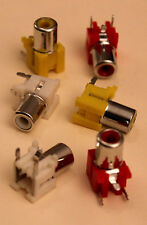 Pcb Phono Rca Socket Connectors Red, White, Yellow (Pack of 6)