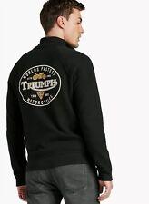 Lucky Brand Triumph Motorcycles Cafe Racer Men's Full-Zip Jacket Black NEW XL