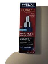 L'Oreal  Revitalift Derm Intensives Night Serum 0.3% Pure Retinol - 1.0 oz. New