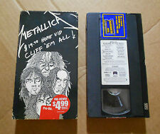 Metallica Cliff 'em all VHS 1987