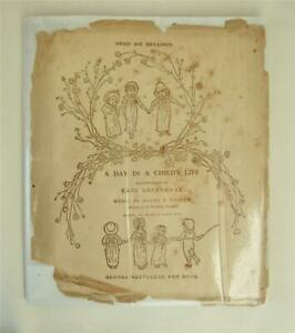 A Day in a Child's Life, Kate Greenaway, 1881 1st ed. Dust Jacket