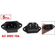 5 Pz 3P IEC 320 C14 Maschio spina pannello di alimentazione Inlet Prese Con H0P8