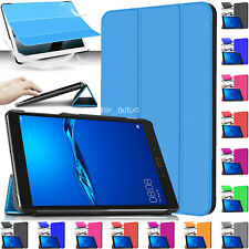 "Leather Magnetic Stand Smart Case Cover For Huawei MediaPad M3 Lite 8"" Inch 2017"
