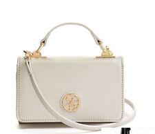 NWT GUESS Cyndy Mini Crossbody Phone case Handbag Purse Metallic Silver