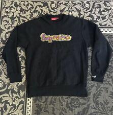 Supreme Gonz Logo Crewneck Sweatshirt FW07 Black XL